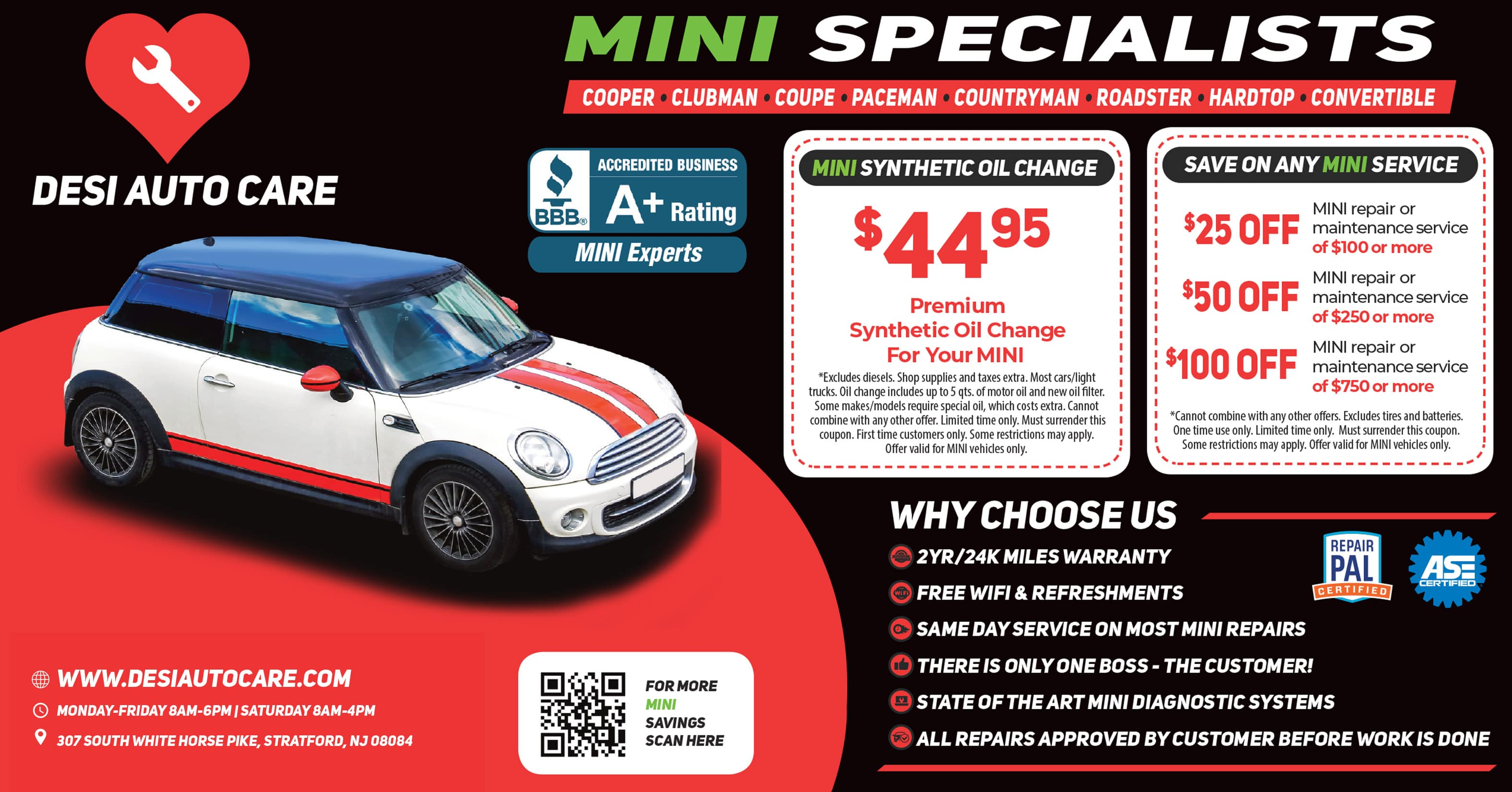 MINI Services 2 | Desi Auto Care